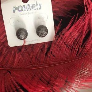 Knob fashion earrings grey
